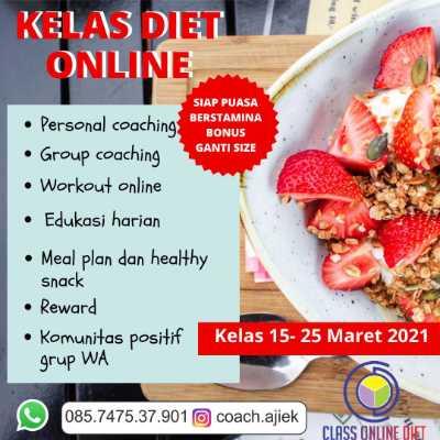 Kelas diet online Maret